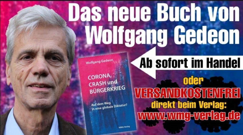 Das neue Buch von Wolfgang Gedeon: Corona, Crash und Bürgerkrieg